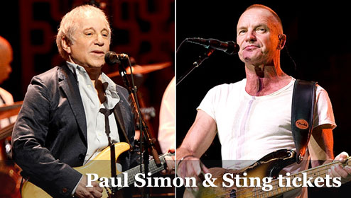 cheap Paul Simon & Sting On Stage Together tour tickets 2014